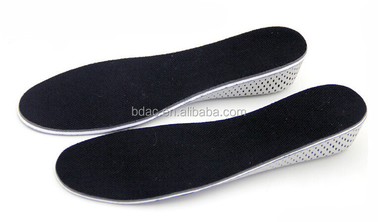 Light weight soft EVA memory foam shoe insoles for increasing height