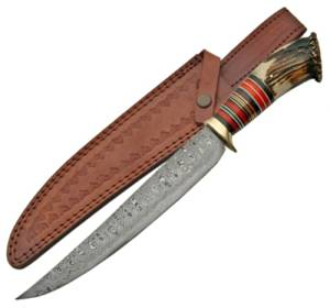 15in Damascus Bowie Hunting Knife Damascus Steel Hunting Knife Damascus Hunting Knife Damascus Handmade Hunting Knife Handmade Damascus Hunting Knife
