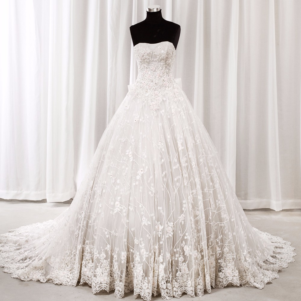 Plus Size Ball Gown Sweetheart Lace