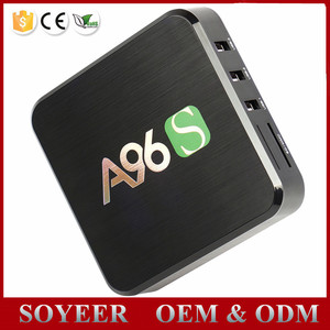 SOYEER rca output firmware update amlogic s905 q box quad core A96S full hd  4k android tv box
