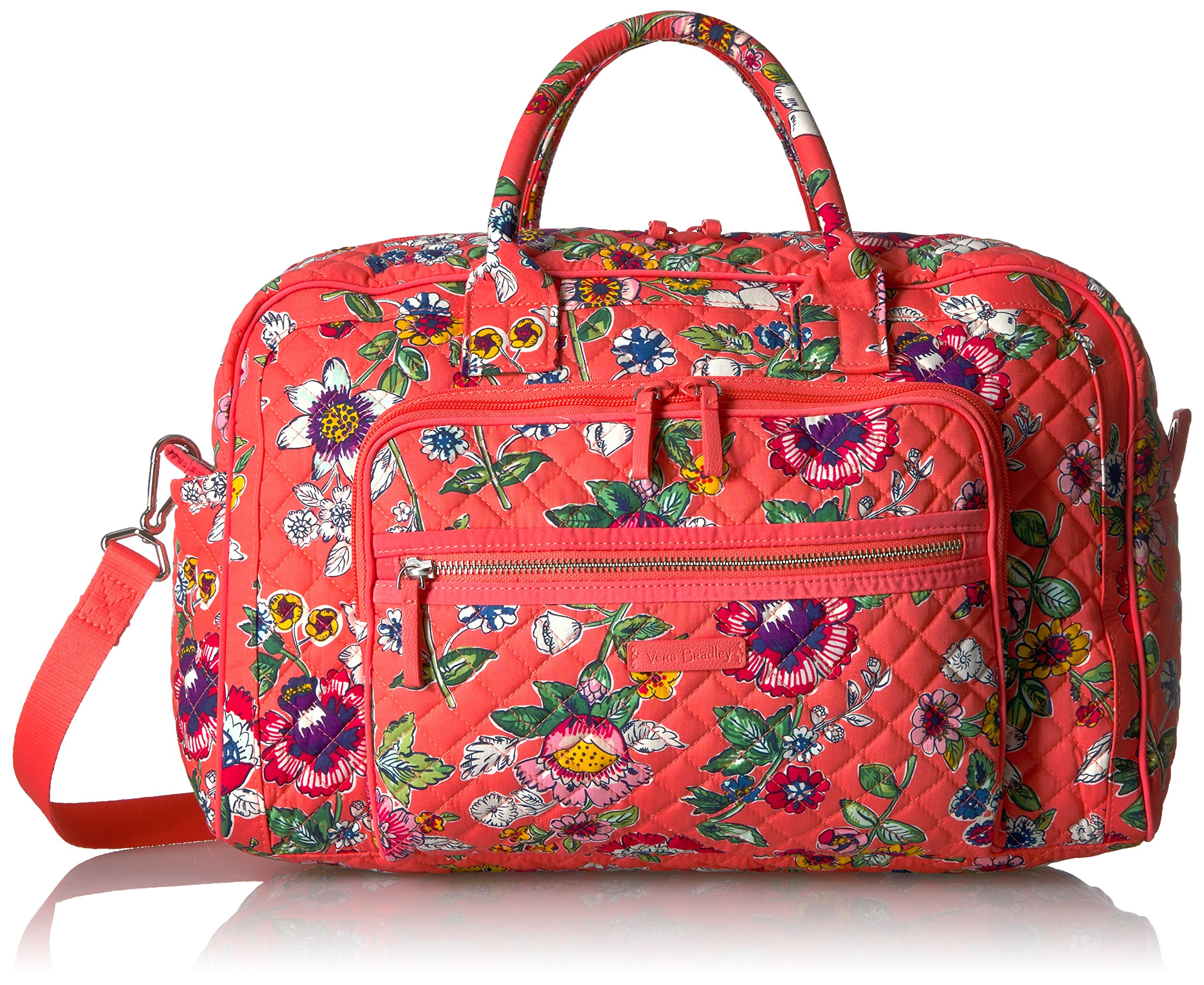 38953bdc0cb5 Get Quotations · Vera Bradley Iconic Compact Weekender Travel Bag