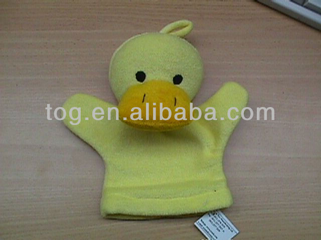 Plush Animal Glove Hand puppet for bathing