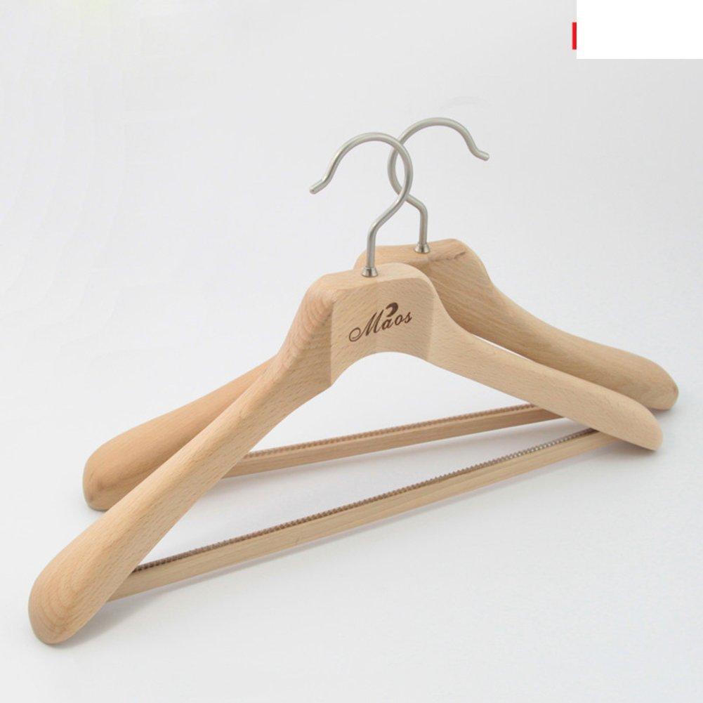 Beech Wood Coat Hanger/clothes Hanger/ Suit Wooden Hanger/Simple Clothes  Storage Cabinet