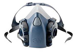 3M Small Silicone Ultimate Half Mask 7500 Series Reusable Respirator With 3M Cool Flow Exhalation Valve, 4 Point Harness And Bayonet Connection - 1 EA