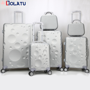 Fashion Design Clear Shell ABS 6pcs set Luggage with High Quality and Customized Suitcase