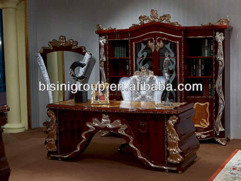 European Style Luxury Office Desk Elegant Design Furniture Table Antique Bg0600095 Modern Executive