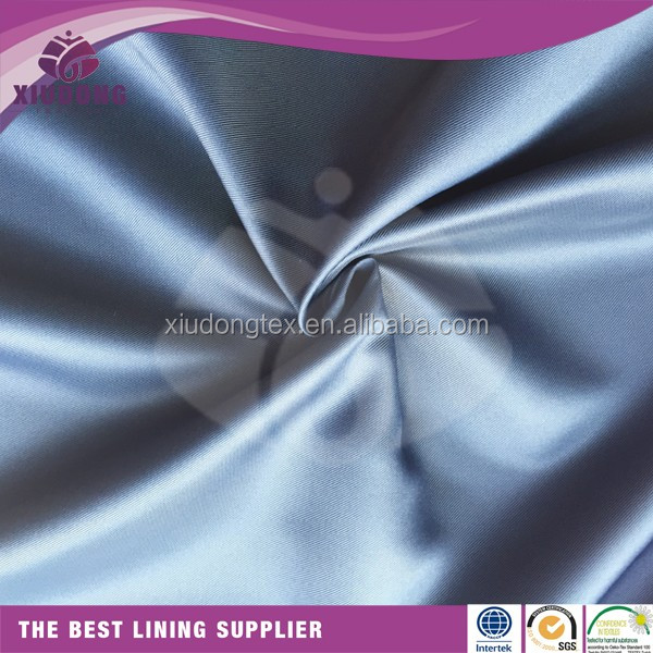 100 polyester woven twill taffeta for clothes lining fabric