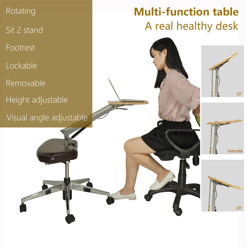 Hot selling modern style office adjustable height monitor and keyboard stand