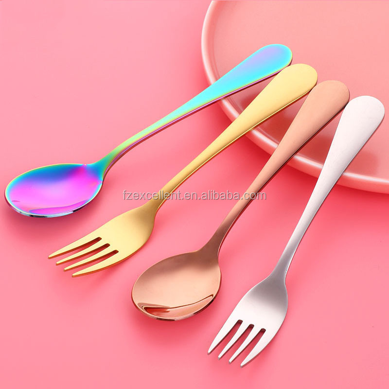 High Quality Flatware Colorful Reusable Fork And Knives Spoon Set