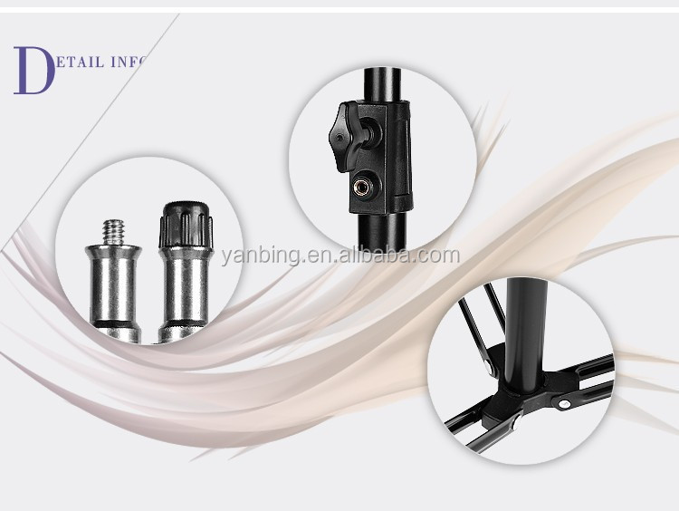 Factory supply photographic equipment multi-function folding light stand with extra thick diameter heavy duty