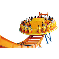 Thrilling amusement rides magic disco rides flying UFO rides with trailer