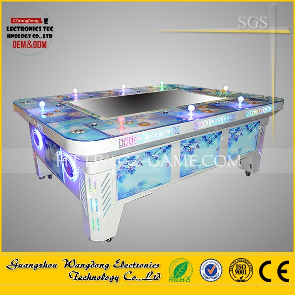Top sale 6 players 32 inch lottery machines Funny Fish ticket table machine vending machine
