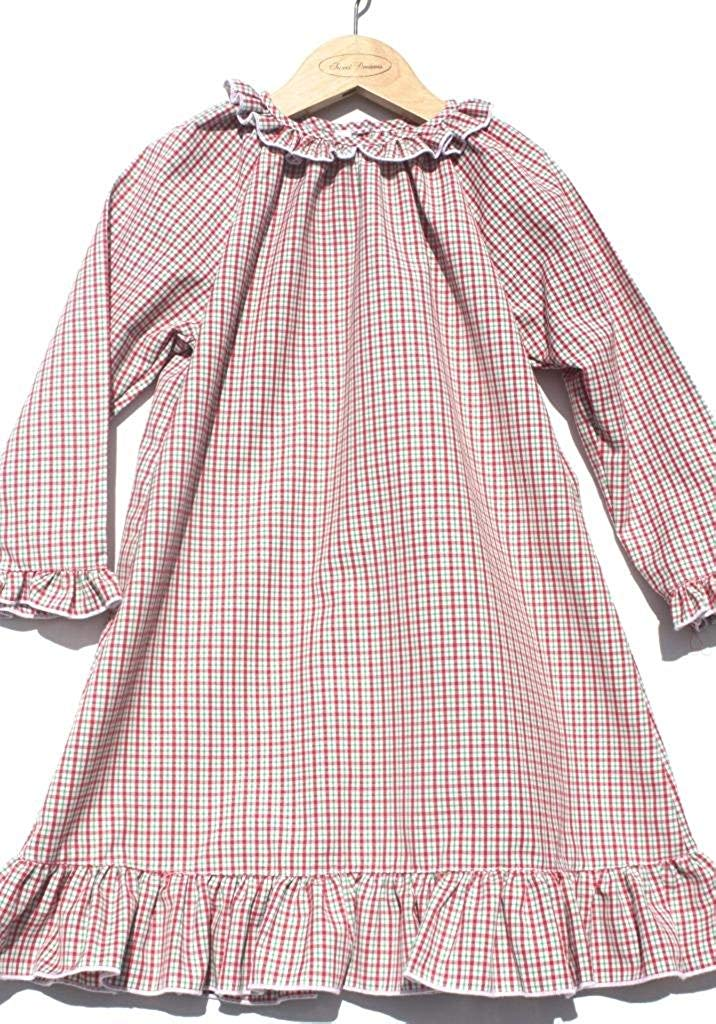 05950175cb Get Quotations · Sweet Dreams Girls Baby Christmas Plaid Lightweight  Nightgown Pajamas