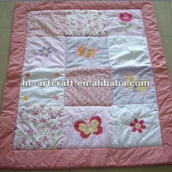 Butterfly Cotton Handmade Baby Quilt