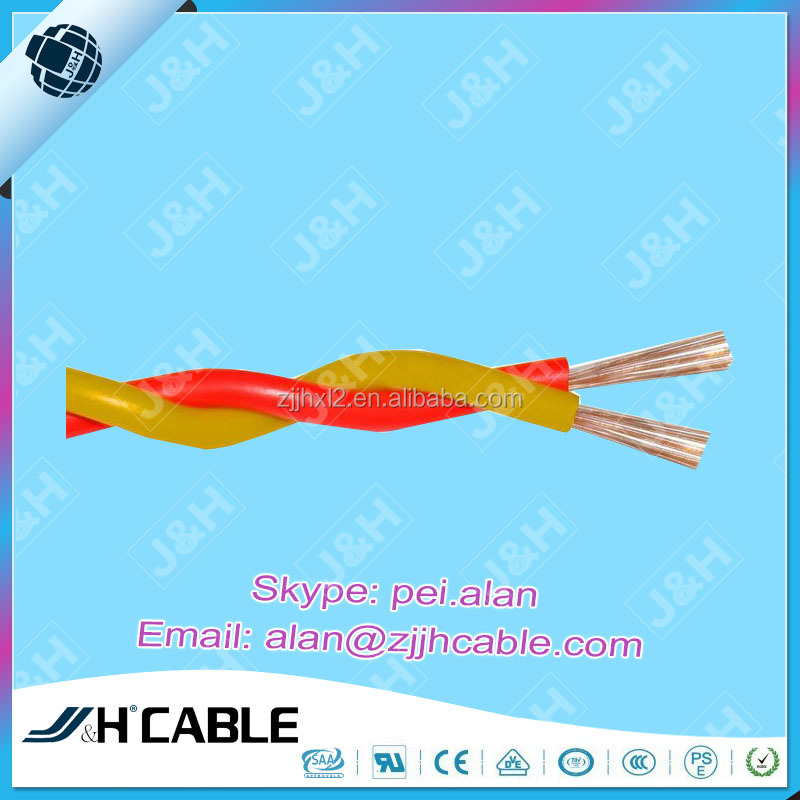 CCC(IEC) Standard Copper Core PVC Insulation Twisted Jointed Flexible Wire RVS