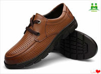 The latest fashion brown leather men leisure shoes