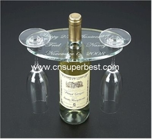 New desgin acrylic wine holder display for bottle wine