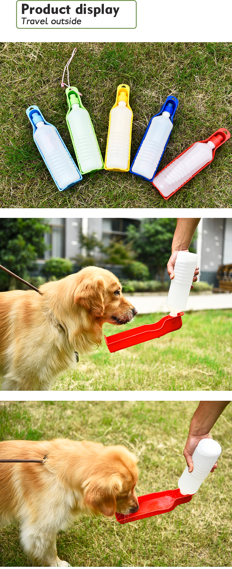 Travel Portable Dog Drinking Water Feeder Bottle for Pet