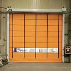 China good quality industrial automatic fast acting exterior big size wind resist fold up pvc high speed stacking doors