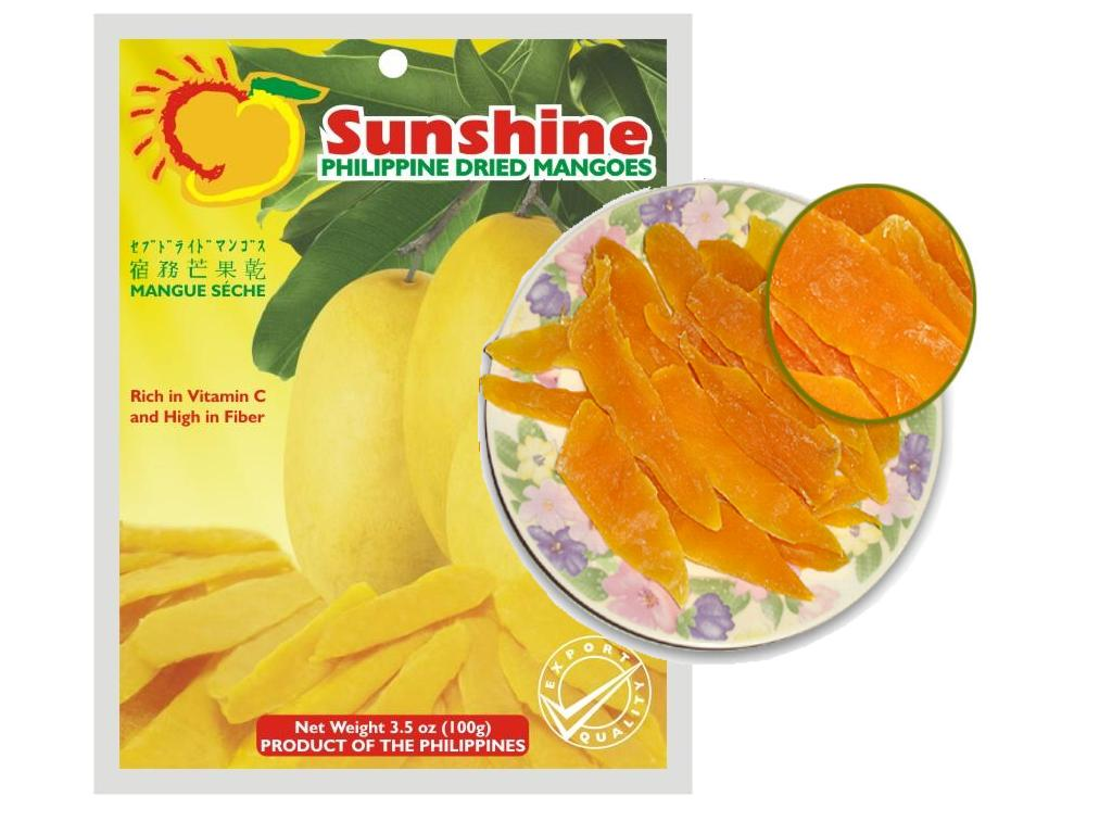 Sunshine Dried Mango 100g