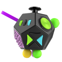 2017 Quality Focus Fidget Toy Anti Stress Magic Anxiety 12sides Fidget Cube for Adults and Children