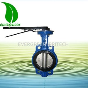 Handle lever type Iron wafer butterfly valve
