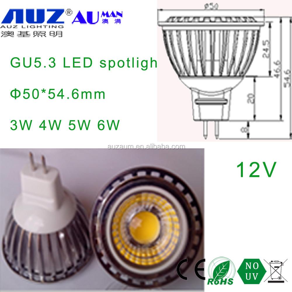 alibaba hot sell 25 - Z straight grain COB lens china factory price 4W led spot light MR16 GU5.3 4w cob led spotlight 4w g5.3