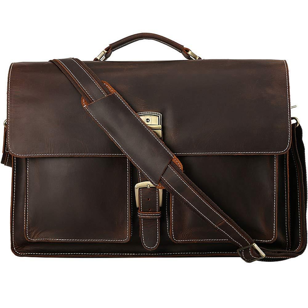 Genda 2Archer Leather Retro Casual Flapover Shoulder Messenger Bag for Men
