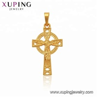 33738 XUPING Religion series 24K gold color celtic style cross pendant