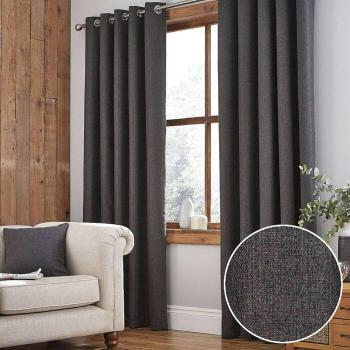 Ready Made Blackout Living Room Curtains Charcoal Thermal Eyelet Curtains -  Buy Ready Made Curtains,Thermal Eyelet Curtains,Blackout Curtains Product  ...