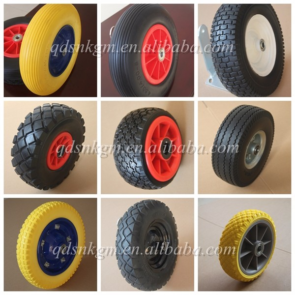 Puncture Proof 4.8/ 4.00-8 Foam Filled Yellow Tyre Capacity up to 200 kg