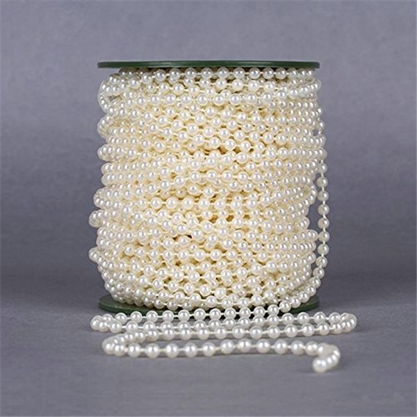 10m Of 4mm Bead Pearl String Ivory And White Wedding