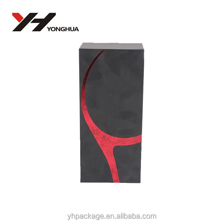 <strong>Black</strong> And Red Pattern Hot Sale High Quality Packing Gift Box With Liner For Personal Care