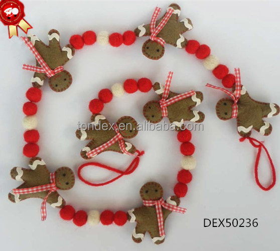 Felt Handmade Christmas Garland Made In China Hot Selling Christmas Decorations Buy Christmas Garland Made In China Felt Christmas Garland Product