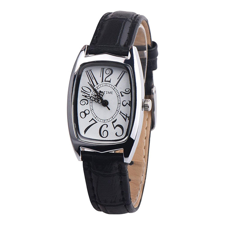 Women Quzrtz Watches On Sale,POTO Quartz Women Watches Luxury Quartz Chic Retangle Alloy Round Case Pointer Wristwatch Womens Leather Wrist Watches For Ladies Clearance