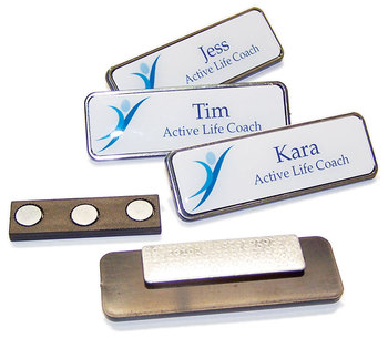 reusable magnetic name badge with magnetic backside - Magnetic Name Badges