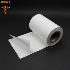 white PVC self-adhesive mirror sticker paper printing raw material