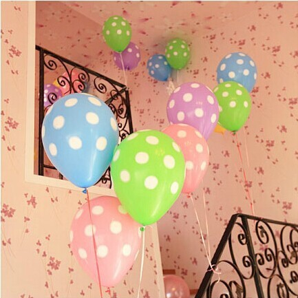 cheap price latex polka dots party balloons in stock