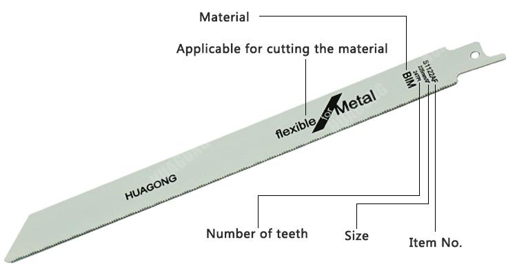 Customized sabre bimetal band saw blade 150mm fast cutting reciprocating saw blade