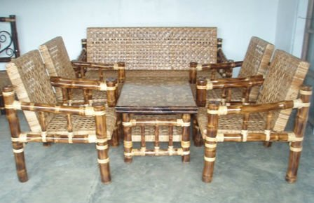 Classic Bamboo Living Room Set - Buy Living Room Furniture Sets