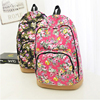 Full flower printing student use canvas backpack bag