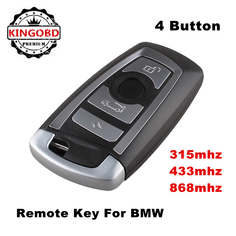 Keyless Remote control auto smart card car <strong>key</strong> for BMW <strong>key</strong> cas4 F series 4 button 315mhz 433MHz 868mhz