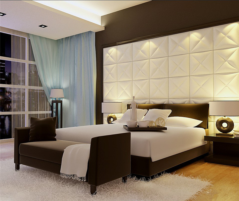 China Supplier Modern Decorative Leather 3D Wall Panels For Bedroom  Decorating 2016