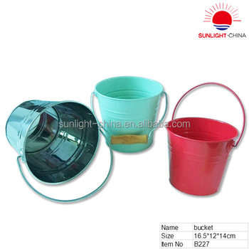 metal bucket water pail with wooden handle buy metal bucket with