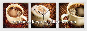 Vintage coffee cup fashion wall clock, dentist gift, wall clock mechanisms