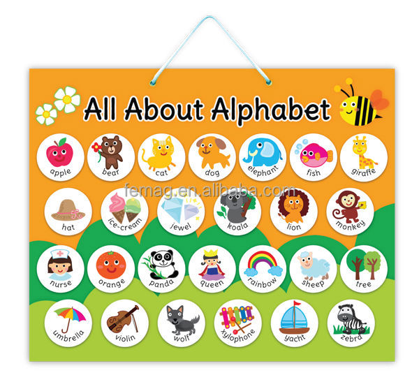 E1003 2015 Wholesales Abc English Alphabet Magnetic Learning