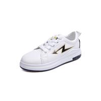 China supplier wholesale young flat white school shoe pu women casual shoes