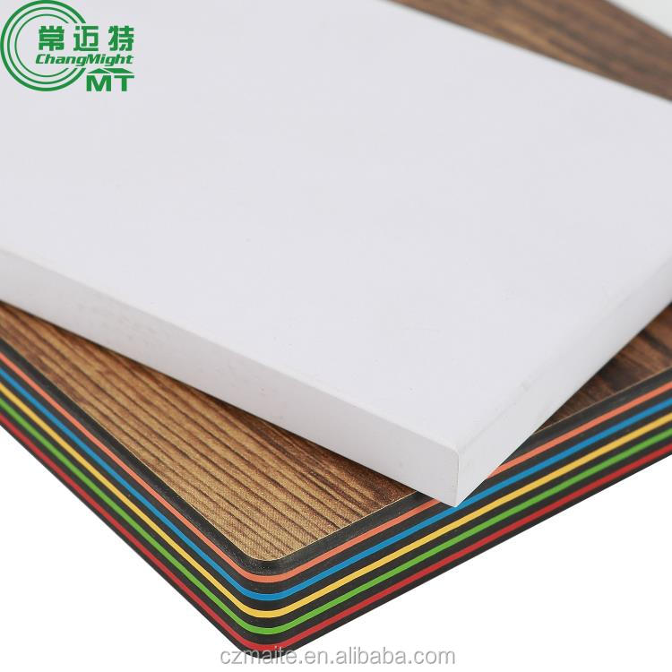 Glossy exterior table top hpl CE certificate compact laminate hpl