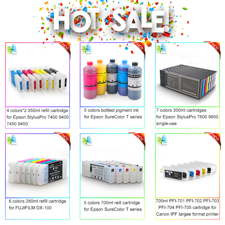 Refillable Ink Cartridges for  Mimaki SS21 for Mimaki JV34-260 JV33-130 CJV30-100 Printers