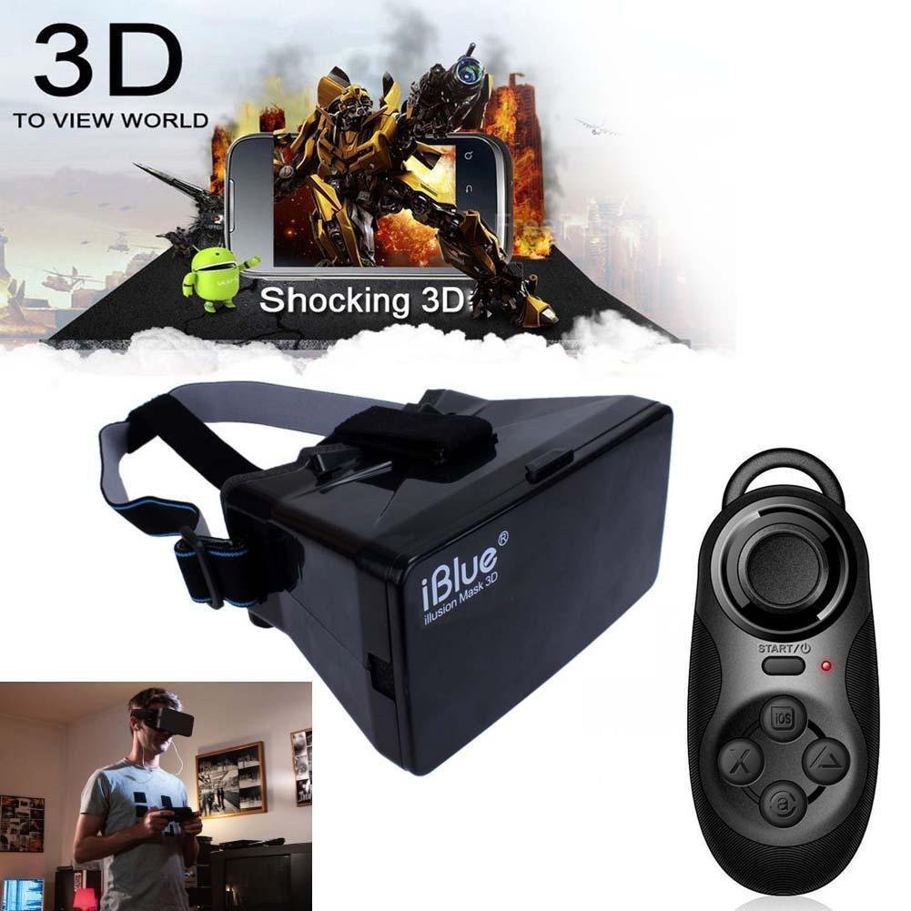 Sun YOBA Virtual Reality 3D Glasses for iPhone Google Cardboard + Controller Gamepad